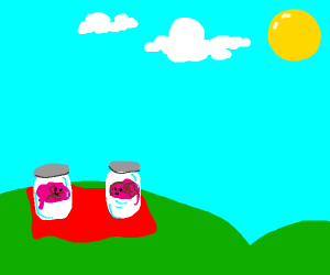 mini brains have a picnic