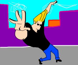 Johnny Bravo posing