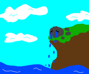 Rock crying a river