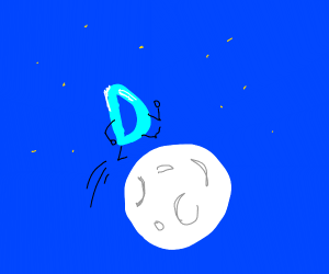 A Drawception Jumping over the Moon