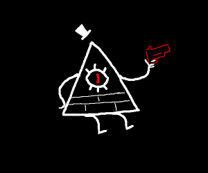bill cipher has a gun