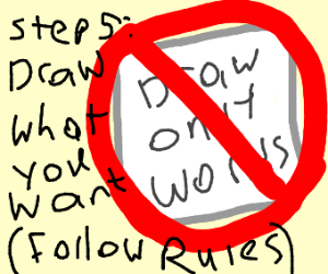 step 4: dont draw only words