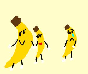 Bananas wife leaving him for a bigger banana