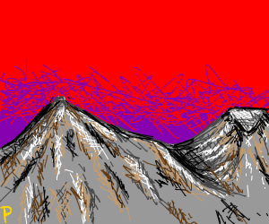 red and purple sunset over mountains