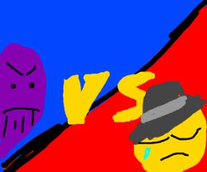 Thanos vs. Sad man in fedora