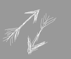 2 white arrows