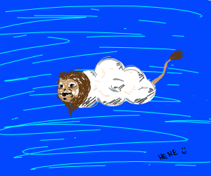 Terrifying cloud-lion, that you will never fo