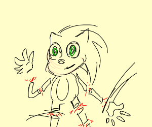 Sonic being dismembered