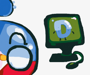 Bubble monster plays Drawception