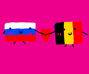 Russia and Belgium love each other