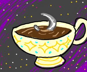 Teacup bath on the moon