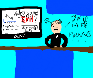 Tonights news: vidio games = evil?