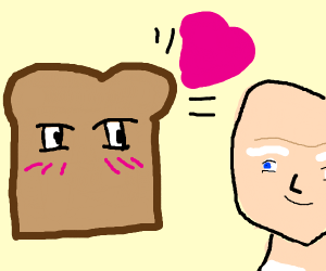 bread confesses its love for baldie