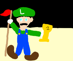 Luigi wins by doing nothing