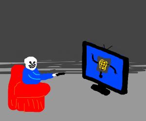 Sans watching TV