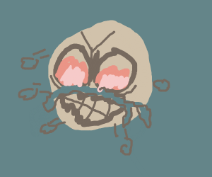 Angry Egg With Fire In Its Eye And Snot