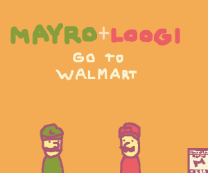 mayro and loogi goes to walmart