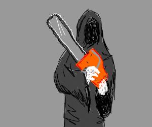 Grim Reaper has a Chainsaw