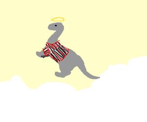 gray dinosaur in heaven