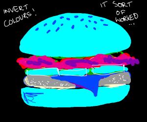 Opposite color burger (candy pallet burger)