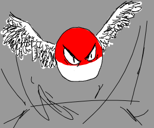 A Voltorb with wings