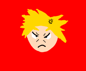 man getting angry anime style