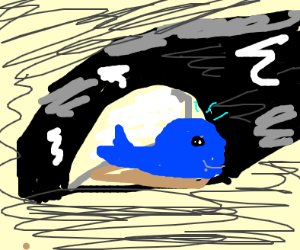 A whale but in a cave