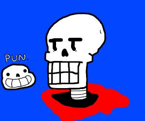 Moderatly let down skeleton
