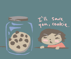 cookie locked up in a jar