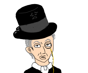 Man with THICC top hat and monocle