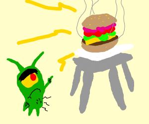 Plankton wants that krabby patty