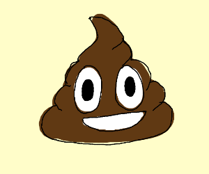 Poop with a face