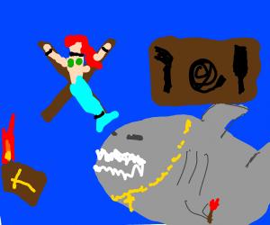 BDSM shark betrays his faith