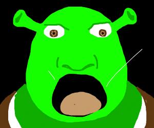 Shrek screams AAAAAAAAAA