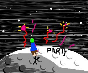 party on the moon