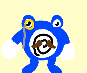 Sophisticated poliwhirl drinking coffee