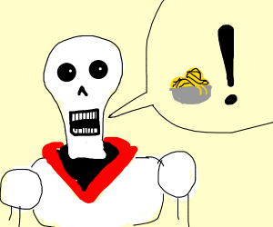Papyrus from Undertale yelling spaghetti