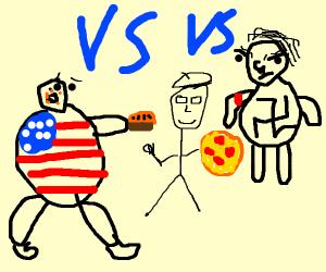 USA vs Italy vs Nazis