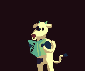 Cow doing maths