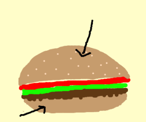 close up of a burger bun