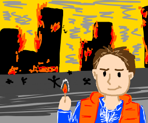 Marty McFly set the town on fire