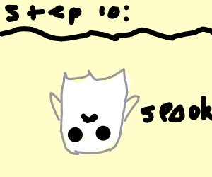 Step 9: turn into a upside down ghost