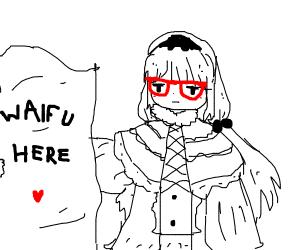 Kawaii nerd girl