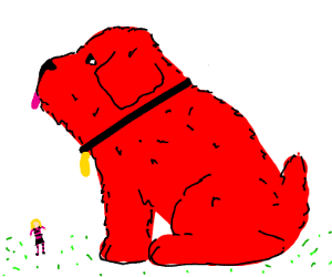 Clifford the big red dog, but realistic
