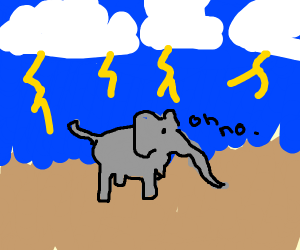 Elephant in a Storm