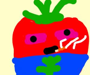 tomato gets high