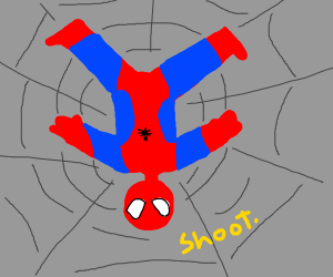Spiderman in his own web
