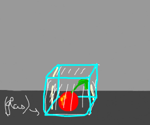 Cherry stuck in a Glass Box