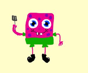 SpongeBob has Patrick's colors