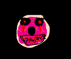 Pink frosted sprinkled donut creepypasta